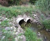 BEFORE: Undersized Culvert