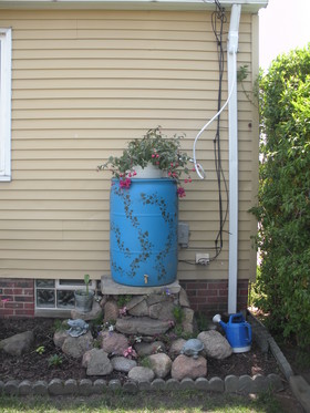 Rain Barrels can be painted and accessorized.